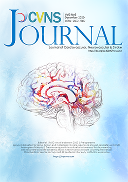 View Vol. 2 No. 2 (2020): Journal of Cardiovascular, Neurovascular & Stroke